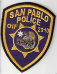 Confirmed fake San Pablo Police OIF/2010 patch