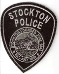 Confirmed fake Stockton Police subdued patch