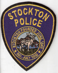 Confirmed fake Stockton Police patch