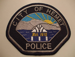 Highly suspicious fake Hemet Police patch
